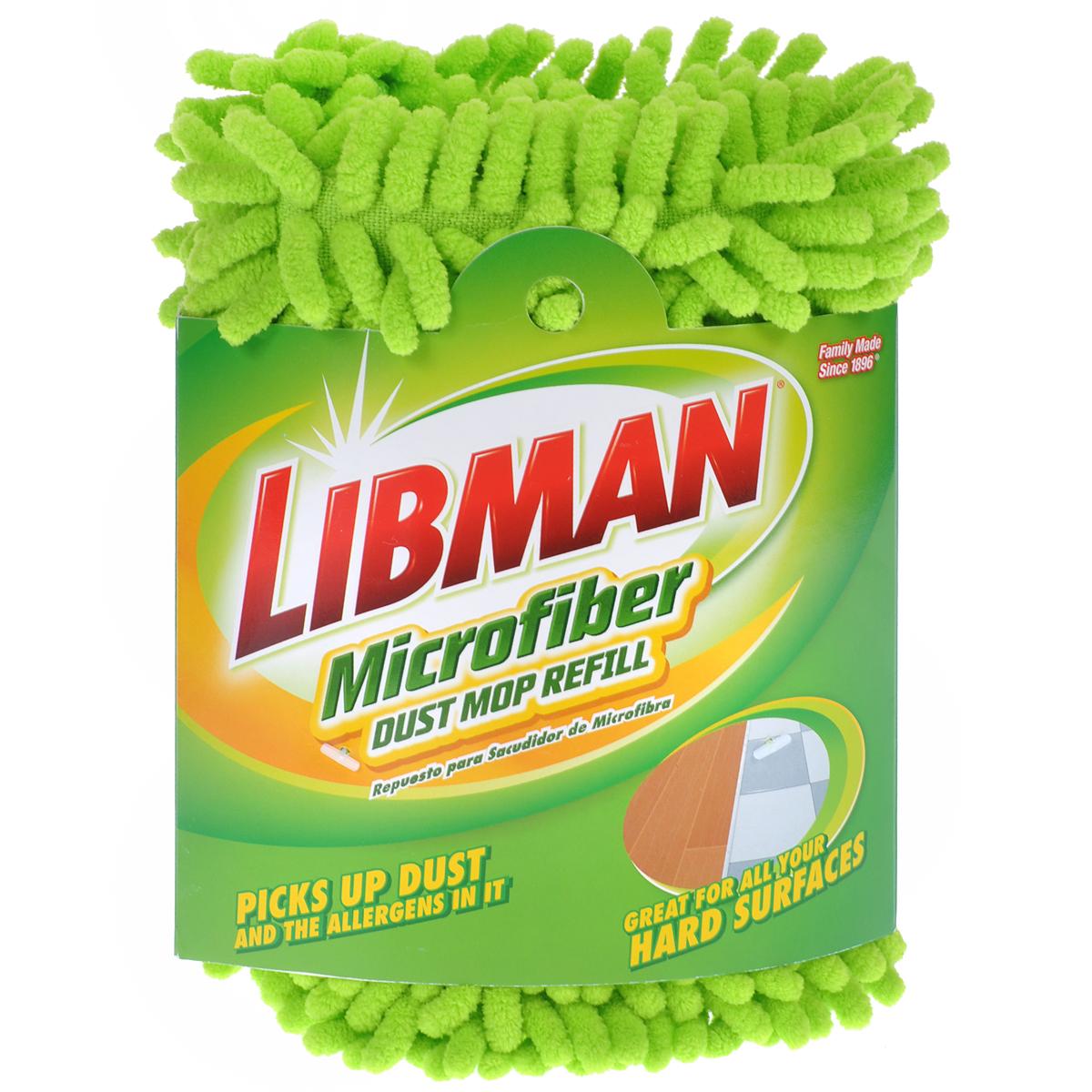 Насадка сменная Libman, для швабры, цвет: салатовый, длина 48 см. 00196133791Сменная насадка Libman изготовлена из микрофибры. Подходит для полотеров с длиной моющей поверхности 48 см. По краям имеет кармашки для фиксации на швабре. Идеальна для сухой уборки великолепно притягивают и собираю пыль и другие загрязнения.