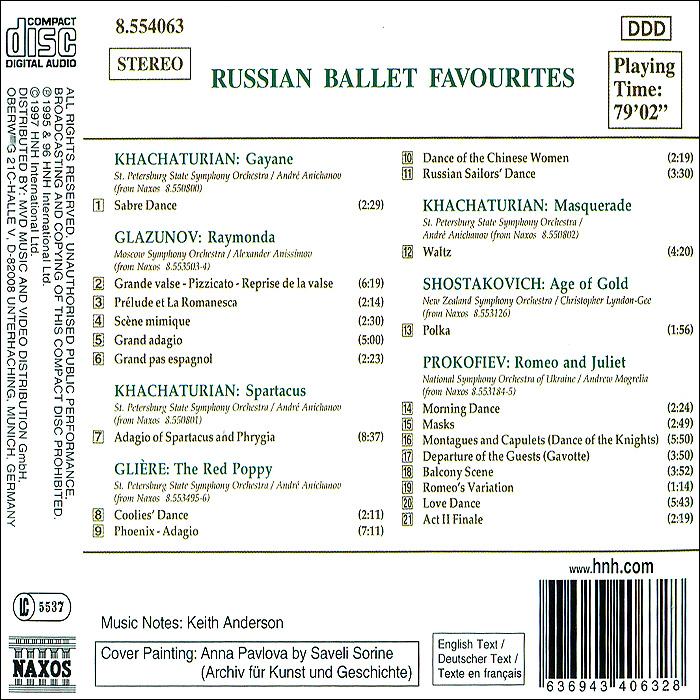 Russian Ballet Favourites Naxos Rights International Ltd.,Warner Music