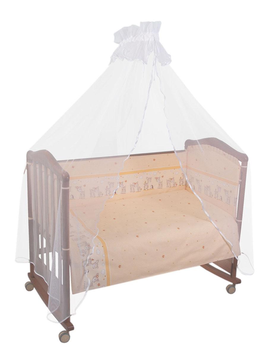 Бампер в кроватку Тайна снов Оленята, цвет: бежевый baby safe барьер защитный для кроватки цвет синий 120 х 42 см
