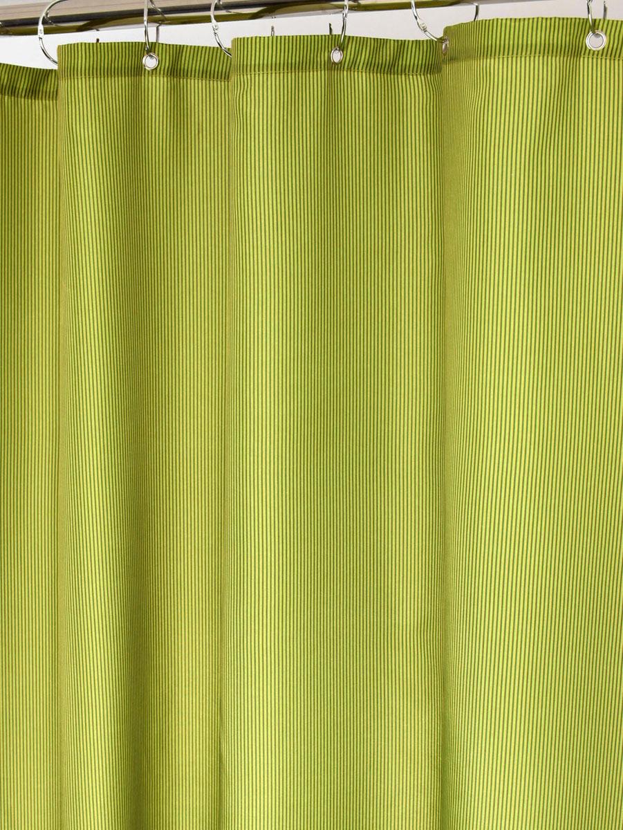 Штора для ванной White Fox Зеленый, с крючками, цвет: зеленый, 180 х 200 смWBCH10-114Штора для ванной White Fox Зеленый изготовлена из полиэстера с водоотталкивающей и антибактериальной пропиткой. В нижний край шторы вшит неметаллический утяжелитель змейка. Он не ржавеет, обладает большой гибкостью и не теряет своих свойств после стирки. Рисунок нанесен по специальной водозащитной технологии, позволяющей максимально долго сохранять первоначальные цвета. В комплект входит 12 крючков из нержавеющей стали. Крючки не требуют особого ухода, удобны для быстрого навешивания и снятия шторы с карниза. Шарики в верхней части крючка позволяют более плавно перемещать штору по карнизу.Штора и крючки составляют единую композицию, которая гармонично вписывается в интерьер ванной комнаты. Рекомендации по уходу: Штора удобна и проста в уходе. Ее можно стирать при температуре до 30°C и гладить при температуре до 110°C.
