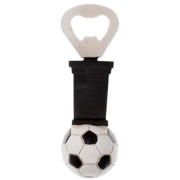 Ключ для открывания бутылок. 2893528935Ключ для открывания бутылок - это полезный и нужный прибор в каждом доме. Рабочая часть выполнена из металла. Рукоятка изготовлена из пластика с оригинальным дизайном в виде футбольного мяча.