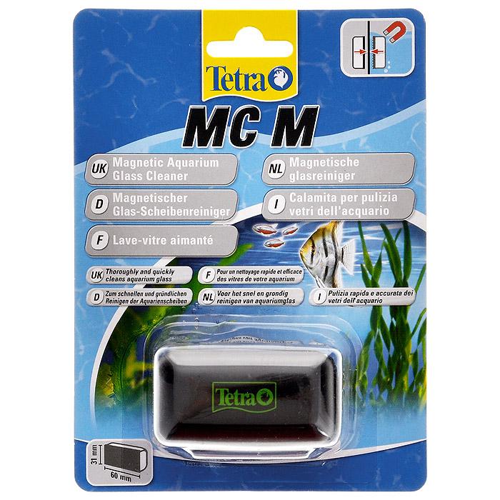 Скребок для аквариума Tetra MC M магнитный239302Магнитный скребок для аквариума Tetra предназначен для быстрой и тщательной очистки стекол аквариума от налета и обрастаний.Для аквариумов с толщиной стекла до 5 мм.Скошенные кромки скребка не повреждают силиконовые швы аквариума, не оставляет царапин на стекле.Удобная эргономичная ручка.Подходит для аквариумов с пресной и морской водой.Рабочая поверхность скребка 6 см х 3,1 см.