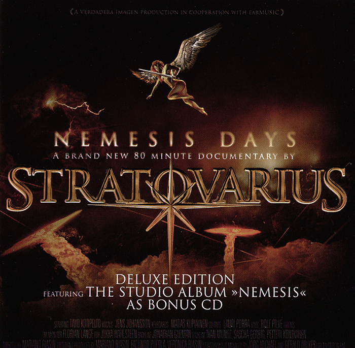 Stratovarius Stratovarius. Nemesis Days. Deluxe Edition (CD + DVD) 9 inch car headrest mount dvd player digital multimedia player hdmi 800 x 480 lcd screen audio video usb speaker remote control