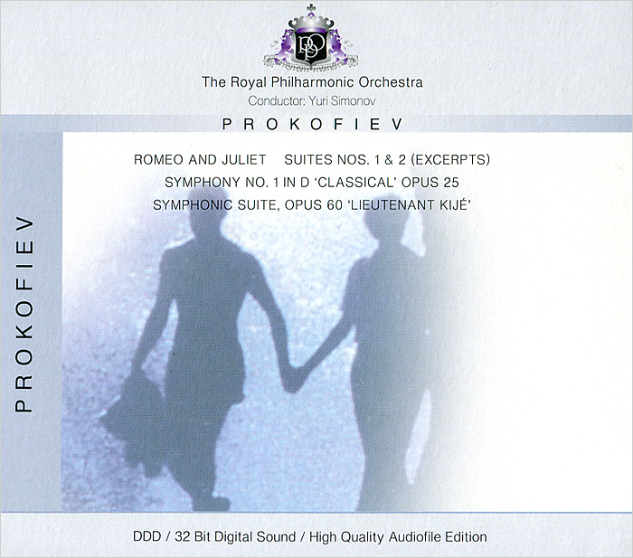 The Royal Philharmonic Orchestra,Юрий Симонов The Royal Philharmonic Orchestra. Prokofiev. Romeo And Juliet, Suites Nos. 1 & 2 (Excerpts) / Symphony No. 1, Op. 25 Classical / Symphonic Suite, Op. 60 Lieutenant Kije the royal philharmonic orchestra royal philharmonic orchestra classic movie themes ii