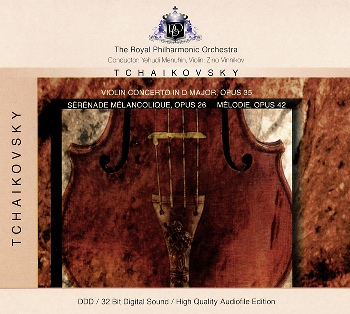 Иегуди Менухин,Зино Винников,The Royal Philharmonic Orchestra The Royal Philharmonic Orchestra. Tchaikovsky. Violin Concerto / Serenade Melancolique / Melodie vienna philharmonic orchestra леонард бернштейн гидон кремер кристоф фон донани the israel philharmonic orchestra new york philharmonic orchestra gidon kremer cristoph von dohnanyi leonard bernstein glass violin concerto