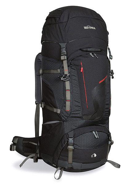 Рюкзак туристический Tatonka Bison 90, цвет: черный, 90 л1428.040Флагманская модель больших рюкзаков Tatonka. Трекинговый рюкзак для переноски тяжелых грузов, специально расчитан на длительные переходы. Конструктивно разделен на три части - верхнее, основное и нижнее отделение. Большой передний клапан на скрытой молнии позволяет осуществить загрузку с передней стороны. Регулируемая система подвески Х1 отлично прилегает к спине, благодаря мягким, эргономичным плечевым ремням и комфортабельной подкладке на спинке рюкзака, идеально распределяет вес и позволяет переносить большие грузы. Рюкзак имеет крепление для ледоруба, отделение для аптечки.Особенности рюкзака:Система подвески Х1 для переноски тяжелых грузов.Подкладка в спине с различной степенью жесткости.Комфортабельные плечевые ремни.Регулируемый по высоте клапан.Большой передний клапан на молнии.Съемное нижнее отделение.Передний карман на герметичной молнии.Боковые карманы.Комфортабельный регулируемый пояс.Ручки для переноски.Съемное крепление ледоруба.Боковые стяжки.Прочное дно из Texamid.Отделение для аптечки.