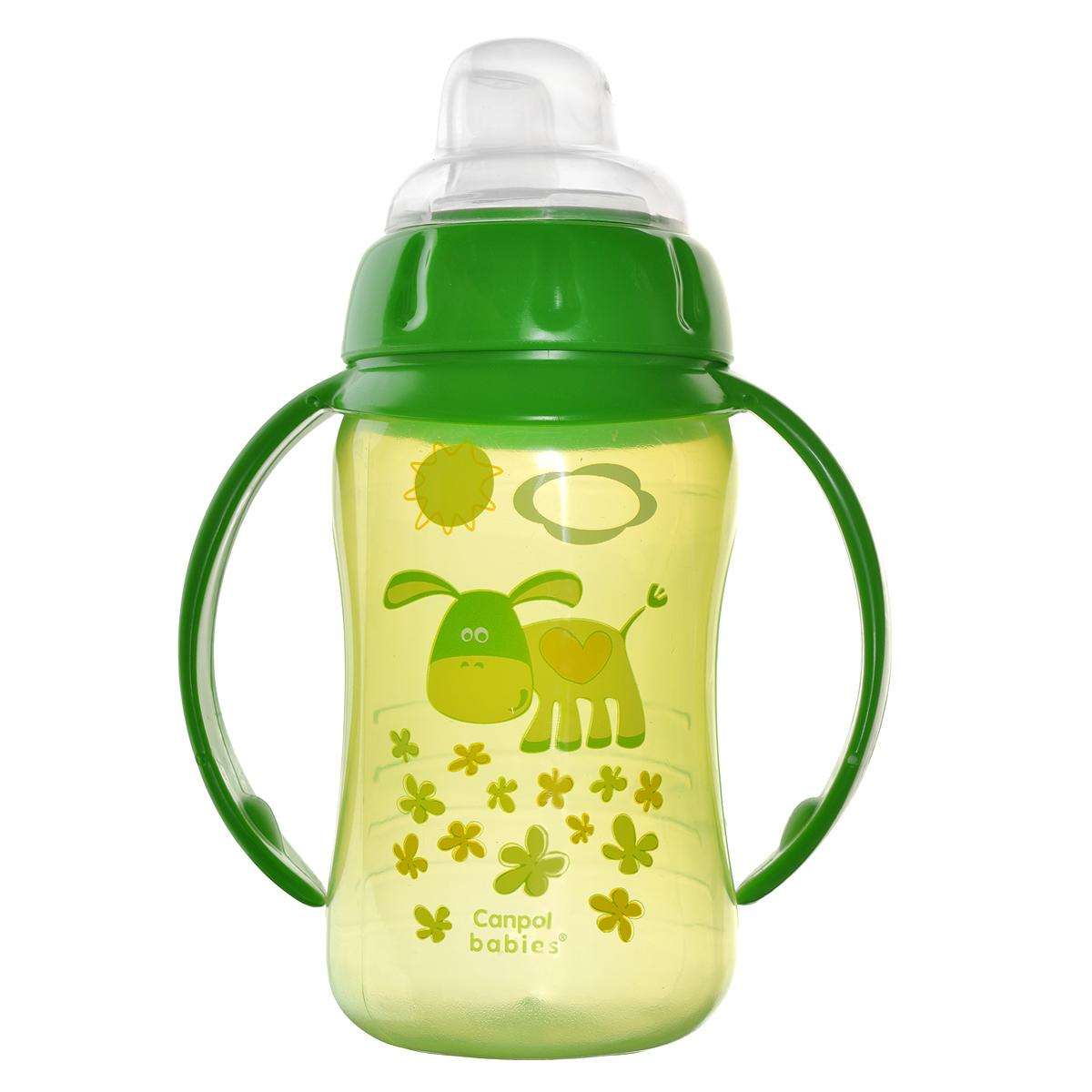 Canpol Babies Поильник с силиконовым носиком от 9 месяцев цвет зеленый 320 мл canpol babies бутылочка с силиконовым носиком от 6 месяцев цвет розовый 250 мл