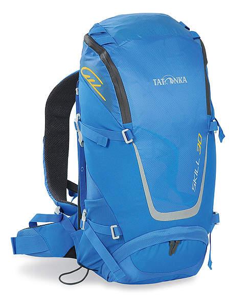 Рюкзак спортивный Tatonka Skill 30, цвет: голубой, 30 л1480.194Легкий спортивный рюкзак Tatonka Skill 30 с фронтальной загрузкой. Новая система подвески X Vent Zero обеспечивает отличную вентиляцию спины, фиксацию и распределение груза. Рюкзак имеет хорошее оснащение при весе меньше 1 кг.Особенности рюкзака:Подвеска X Vent Zero.Удобный доступ в основное отделение на водонепроницаемой молнии.Петли на клапане для крепления дополнительного снаряжения.Держатель ключей.Дождевой чехол яркого цвета.Мягкие лямки эргономичной формы с эластичным нагрудным ремнем.Мягкий поясной ремень.Боковые стяжки.Петли для палок или ледоруба.Отдельный доступ в нижнее отделение.Ручка для переноски.