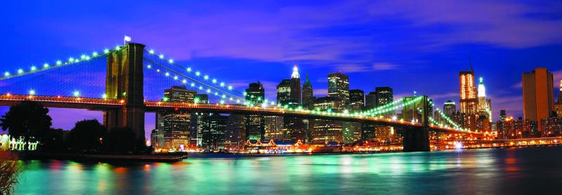 Картина на стекле Postermarket Бруклинский мост, 95 х 33 смAG 33-03Картина на стекле Postermarket - это новое слово в оформлении интерьера. Изделие выполнено из закаленного стекла, что обеспечивает устойчивость к внешним воздействиям, защиту от влаги и долговечность. Картина оформлена красочным изображением Бруклинского моста. С задней стороны имеются 2 петельки для подвешивания к стене. Стильный, современный дизайн, а также яркие и насыщенные цвета сделают эту картину прекрасным дополнением интерьера комнаты.