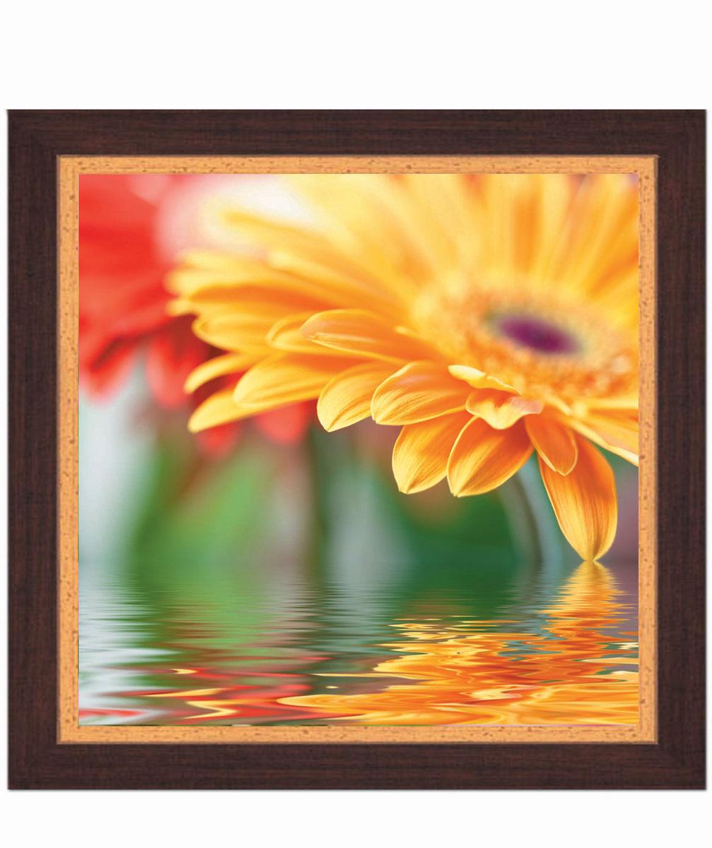 Постер в раме Postermarket Желтая хризантема, 30 см х 30 смPM-3007Картина для интерьера (постер) - современное и актуальное направление в дизайне любых помещений.Постер с красочным изображением желтой хризантемы оформлен в раму коричневого цвета, выполненную из пластика под дерево. Картина защищена прозрачным пластиком. С задней стороны имеется петелька для подвешивания к стене.Картина может использоваться для оформления любых интерьеров: - дом, квартира (гостиная, спальня, кухня, прихожая, детская); - офис (комната переговоров, холл, кабинет); - бар, кафе, ресторан или гостиница. Картины, предоставляемые компанией Постермаркет:- собраны вручную из лучших импортных комплектующих; - надежно упакованы в пленку с противоударными уголками.