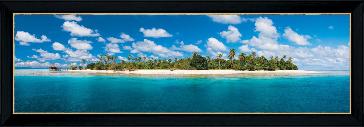 Постер в раме Postermarket Остров, 95 х 33 смPM-3304Картина для интерьера (постер) - современное и актуальное направление в дизайне любых помещений.Постер с красочным изображением острова оформлен в раму черного цвета, выполненную из пластика. Картина защищена прозрачным пластиком. С задней стороны имеются петельки для подвешивания к стене.Картина может использоваться для оформления любых интерьеров: - дом, квартира (гостиная, спальня, кухня, прихожая, детская); - офис (комната переговоров, холл, кабинет); - бар, кафе, ресторан или гостиница. Картины, предоставляемые компанией Постермаркет:- собраны вручную из лучших импортных комплектующих; - надежно упакованы в пленку с противоударными уголками.