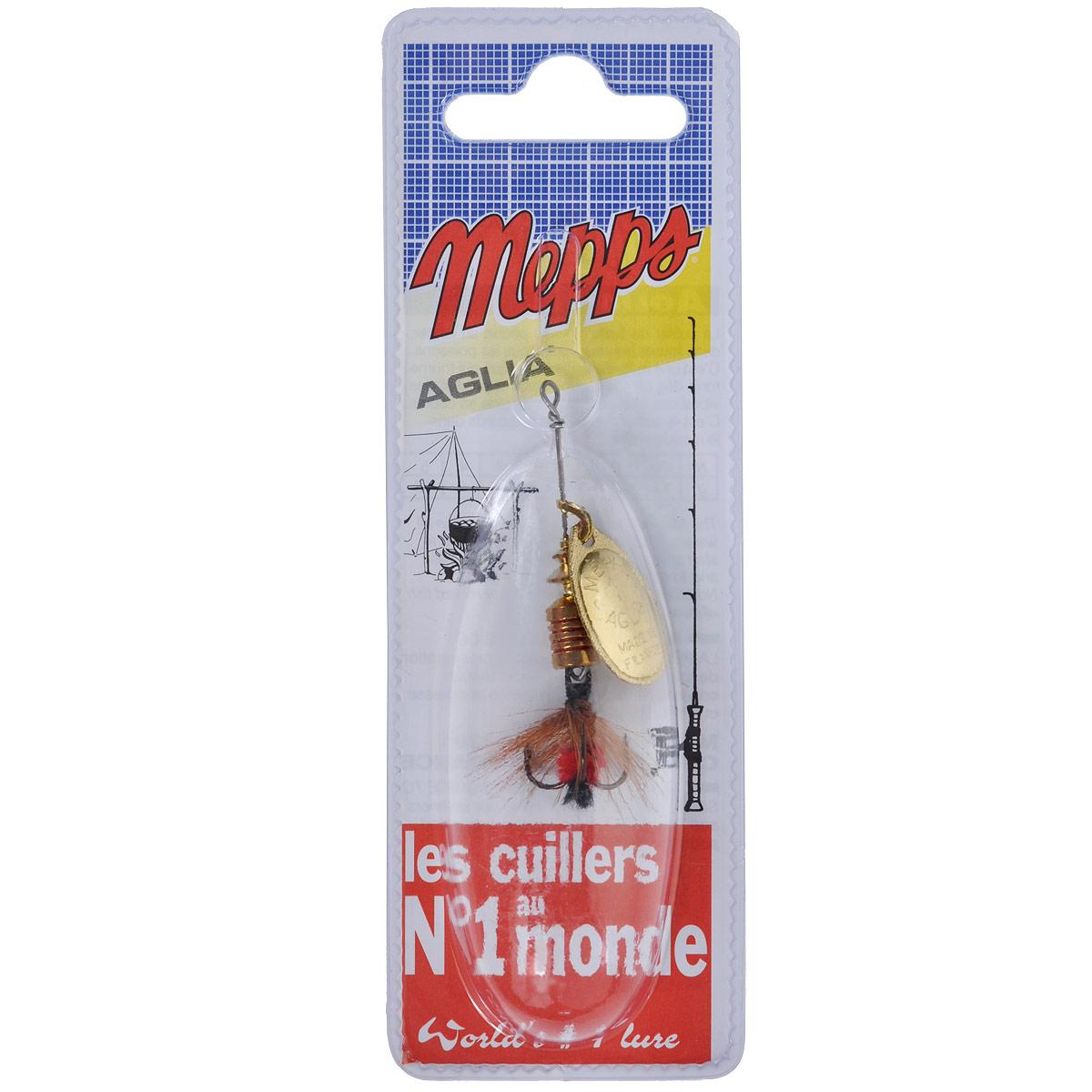 Блесна Mepps Aglia OR Mouch. Rouge, вращающаяся, №1