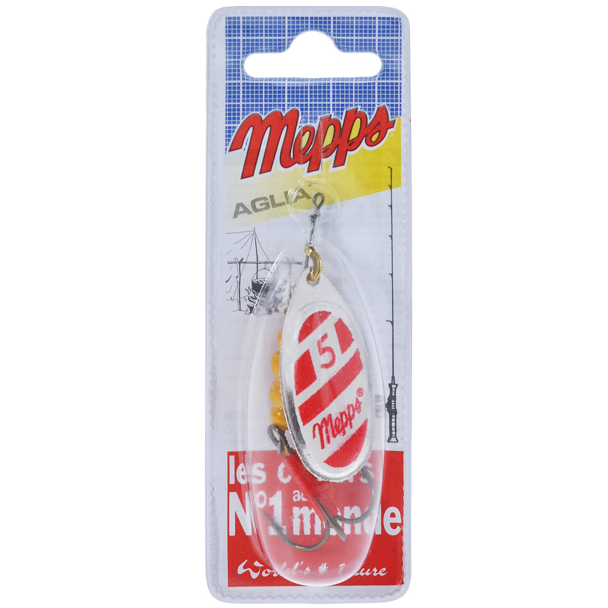 Блесна Mepps Aglia Blanc Rouge AG, вращающаяся, №5, 13 г34962Вращающая блесна Mepps Aglia Blanc Rouge AG - одна из первых блесен французского производства. При вращении угол отклонения лепестка от оси составляет 60°. Блесна в основном предназначена для водоемов со слабым течением, или «стоячей» водой. Благодаря своей превосходно выверенной механике, она начинает послушно вращаться, лишь только коснется воды. Конус вращения адаптируется к силе течения, что позволяет ей создавать вибрации, наиболее привлекательные для хищников. Обладает устойчиво-ровным движением (поведением) в воде - при различных способах и скоростях проводки.Блесна Mepps AGLIA - очень популярная классическая модель. Рекомендуется при ловле форели, окуня, голавля, жереха, язя, как крупных, так и меньшего размера.