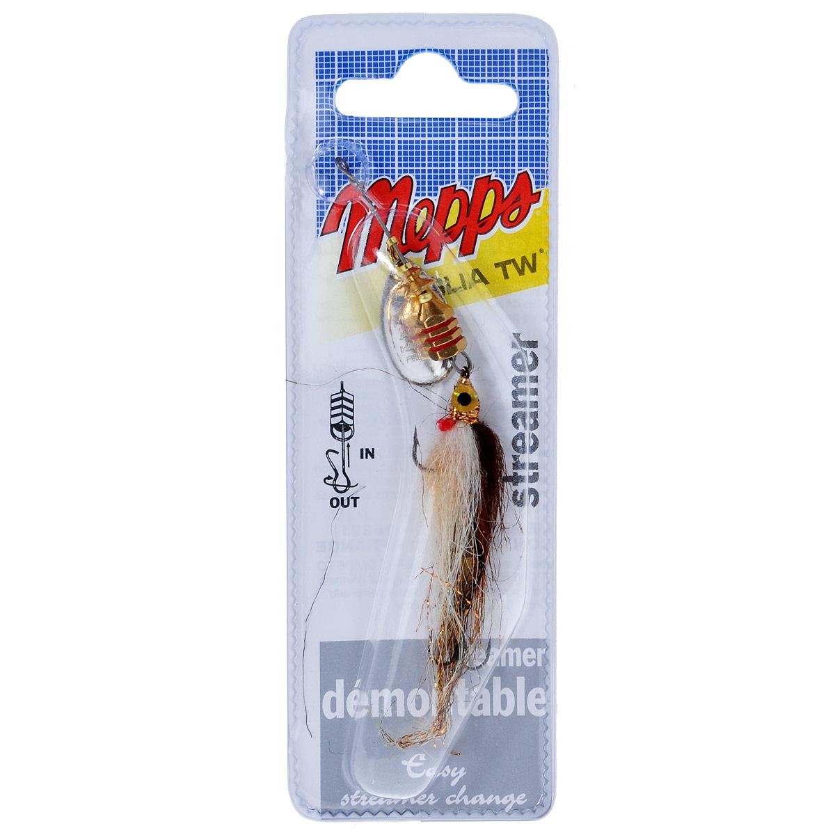 Блесна Mepps Aglia TW Streamer AG, вращающаяся, №1 блесна mepps aglia pts noirs ag 2 cpan20021