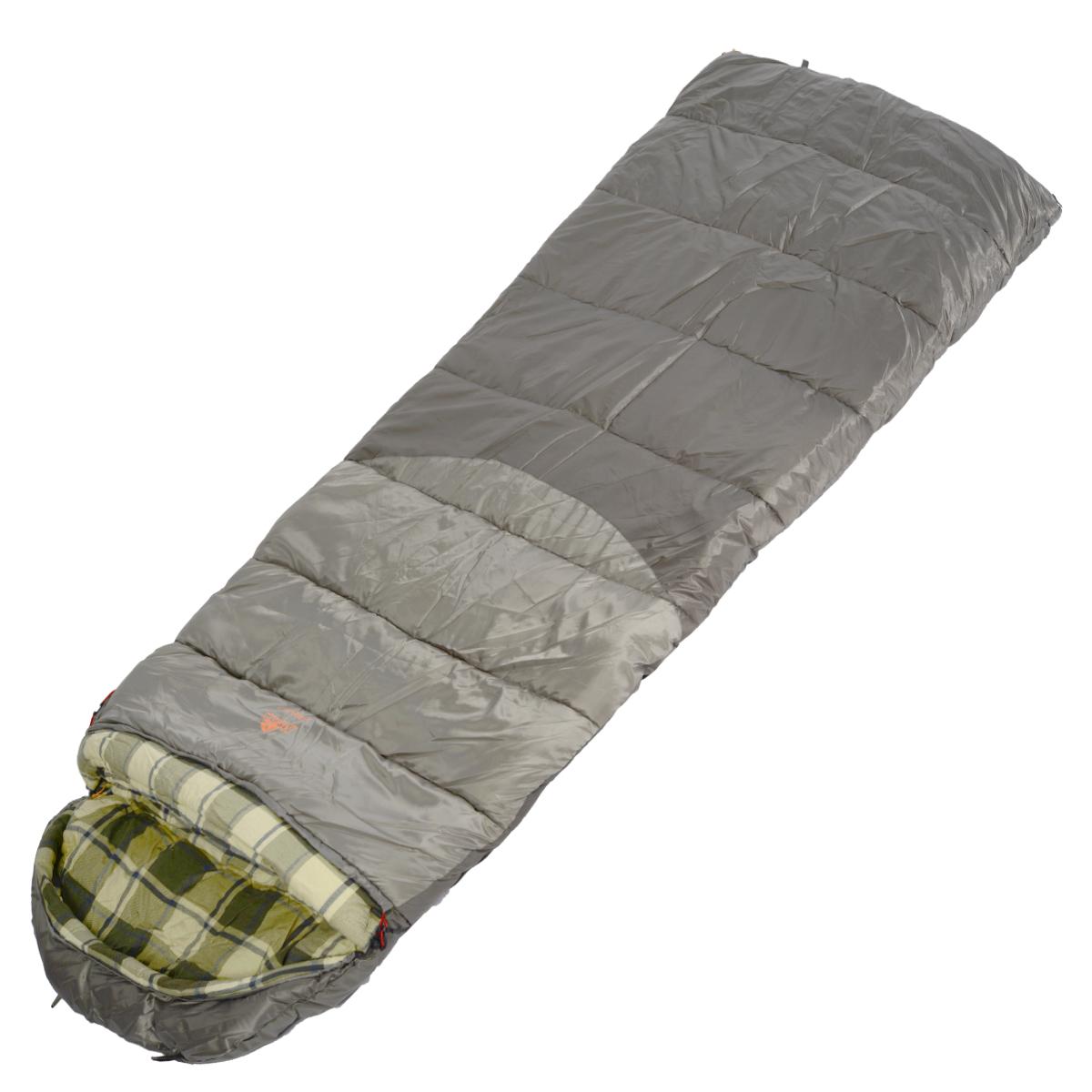 Спальный мешок-одеяло Alexika Canada plus, цвет: серый, правосторонняя молния. 9266.010719266.01071Вы выезжаете на рыбалку или охоту вплоть до зимних холодов. Уникальное предложение - спальный мешок-одеяло Canada. Большой объем утеплителя в 650 г/м2, мягкая и теплая внутренняя фланель, увеличенные размеры для комфортного сна. Размер в чехле: 56/46 см x 43 см. Внешняя ткань: верх Polyester 190T.Внешняя ткань низ:- Polyester 190T Diamond RipStop PU 250 mm H2O. Внутренняя ткань: Flannel. Утеплитель: APF-Isoterm 3D.