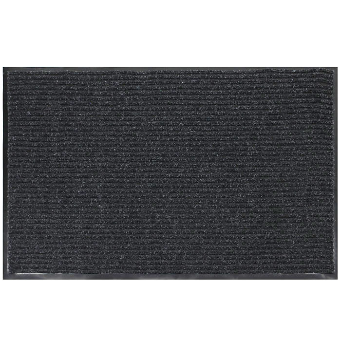 """Коврик придверный """"Vortex"""", влаговпитывающий, 90 см х 120 см, цвет: серый"""