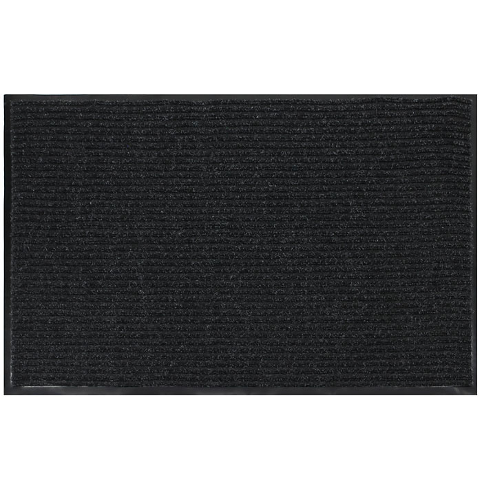 """Коврик придверный """"Vortex"""", влаговпитывающий, 90 см х 120 см, цвет: черный"""