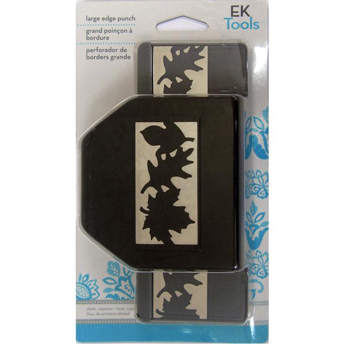 Фигурный дырокол для края EK Tools Осенняя цепьEKS-54-50003Краевой дырокол EK Tools Осенняя цепь поможет вам создать красивый бордюр по краю листа. Данный дырокол используется для создания оригинальных открыток, оформления подарков, в бумажном творчестве. Специальные обозначенные линии на корпусе дырокола помогут вам создать непрерывный рисунок. Является прекрасным подарком для ребенка.Порядок работы: вставьте лист в дырокол и надавите рычаг, сдвиньте дырокол вдоль листа до совпадения вырубки с рисунком и надавите на рычаг снова. Дыроколом можно сделать два типа фигурок - сплошную и ажурную, для переключения режима имеется специальная кнопка.