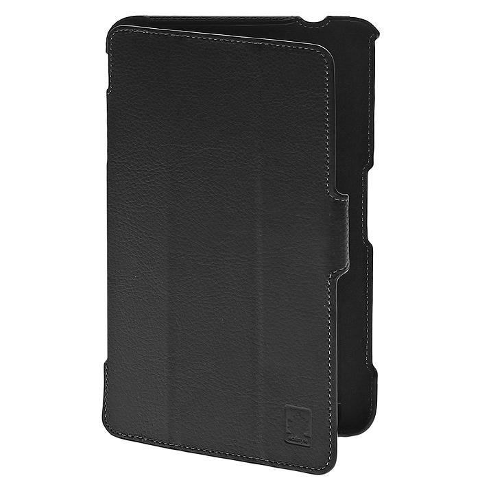 Ecostyle Shell чехол для Samsung Galaxy Tab 4 8.0, Blackesc-0072Чехол Ecostyle Shell для Samsung Galaxy Tab 4 8.0 изготовлен из искусственной кожи. Он защищает устройство от механических повреждений, пыли и грязи. Конструкция чехла обеспечивает свободный доступ ко всем разъемам, камере и функциям планшета. Мягкая внутренняя поверхность гарантирует дополнительную защиту экрана планшетного компьютера. Чехол позволяет устанавливать устройство в двух положениях - для печати и просмотра.