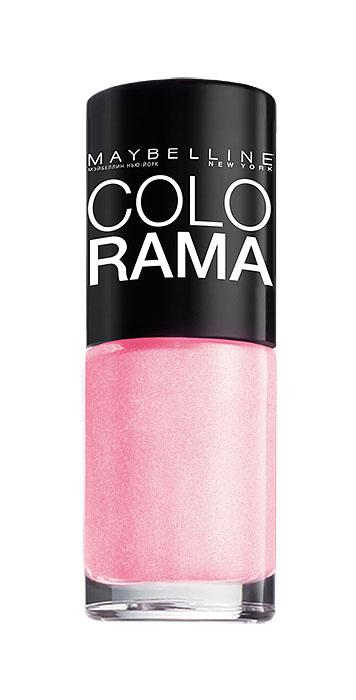 Maybelline New York Лак для ногтей Colorama, оттенок 69, Розовое сияние, 7 млB2070503Самая широкая палитра оттенков новых лаков Колорама.Яркие модные цвета с подиума. Новая формула лака Колорама обеспечивает стойкое покрытие и создает еще более дерзкий, насыщенный цвет, который не тускнеет. Усовершенствованная кисточка для более удобного и ровного нанесения, современная упаковка. Лак для ногтей Колорама не содержит формальдегида, дибутилфталата и толуола.