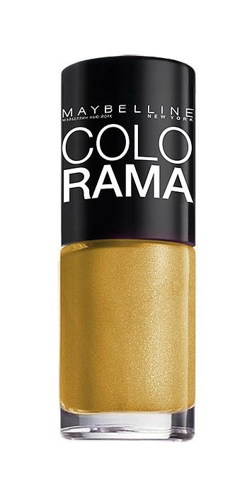 Maybelline New York Лак для ногтей Colorama, оттенок 108, Золотой песок, 7 млB2072503Самая широкая палитра оттенков новых лаков Колорама.Яркие модные цвета с подиума. Новая формула лака Колорама обеспечивает стойкое покрытие и создает еще более дерзкий, насыщенный цвет, который не тускнеет. Усовершенствованная кисточка для более удобного и ровного нанесения, современная упаковка. Лак для ногтей Колорама не содержит формальдегида, дибутилфталата и толуола.