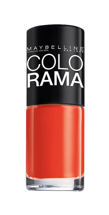 Maybelline New York Лак для ногтей Colorama, оттенок 313, Сочный апельсин, 7 млB2341303Самая широкая палитра оттенков новых лаков Колорама.Яркие модные цвета с подиума. Новая формула лака Колорама обеспечивает стойкое покрытие и создает еще более дерзкий, насыщенный цвет, который не тускнеет. Усовершенствованная кисточка для более удобного и ровного нанесения, современная упаковка. Лак для ногтей Колорама не содержит формальдегида, дибутилфталата и толуола.
