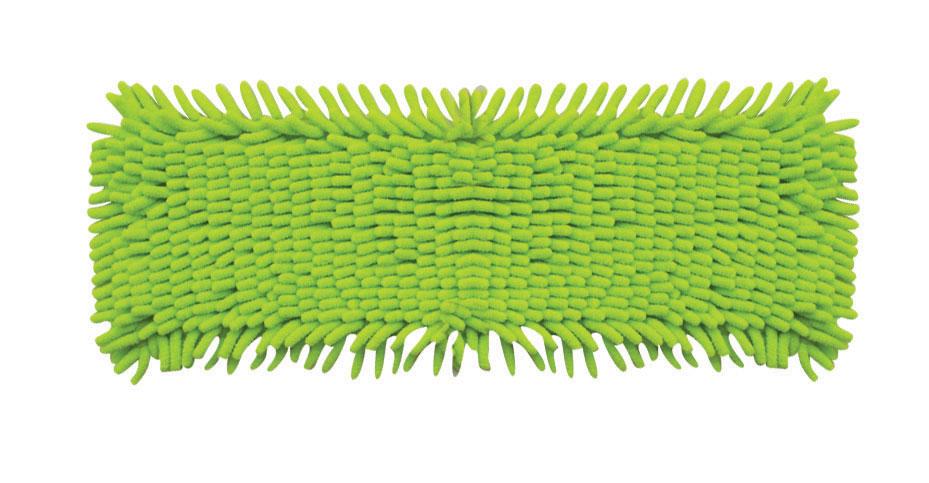 Сменная насадка к швабрам Hausmann, цвет: зеленый, 13 х 42,5 см5005Сменная насадка к швабрам Hausmann изготовлена из микрофибры. Этотматериал впитывает больше воды, чем обычная ткань, и быстро высыхает послестирки. Благодаря длинным и мягким волокнам-пальчикам, насадка эффективноочищает от загрязнений любые виды напольных покрытий. Можно стирать в стиральной машине при температуре 40°С. Размер: 13 х 42,5 см.Длина волокна: 2,5 см.