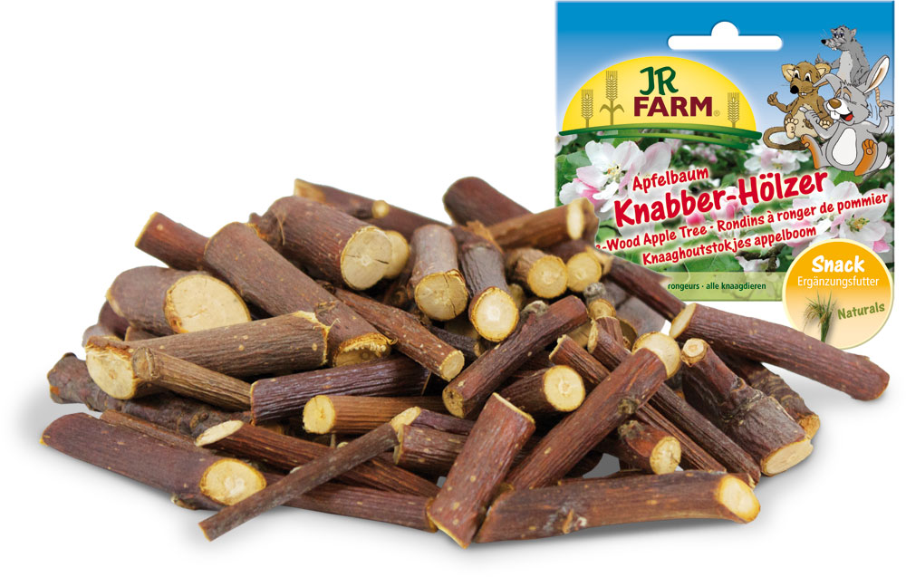 Лакомство для грызунов JR Farm Палочки, из веток яблони, 100 г лакомство для грызунов jr farm печенье из непросеянной муки и фруктов 80 г