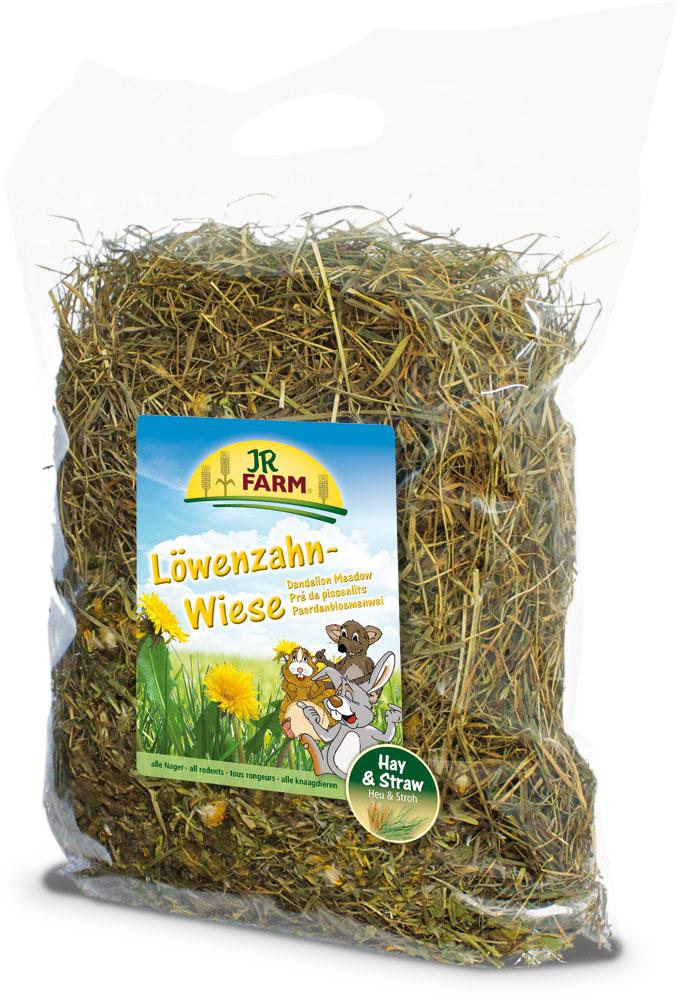 Сено для грызунов JR Farm, с луговым одуванчиком, 500 г корм вака высокое качество просо для птиц и грызунов 500 гр