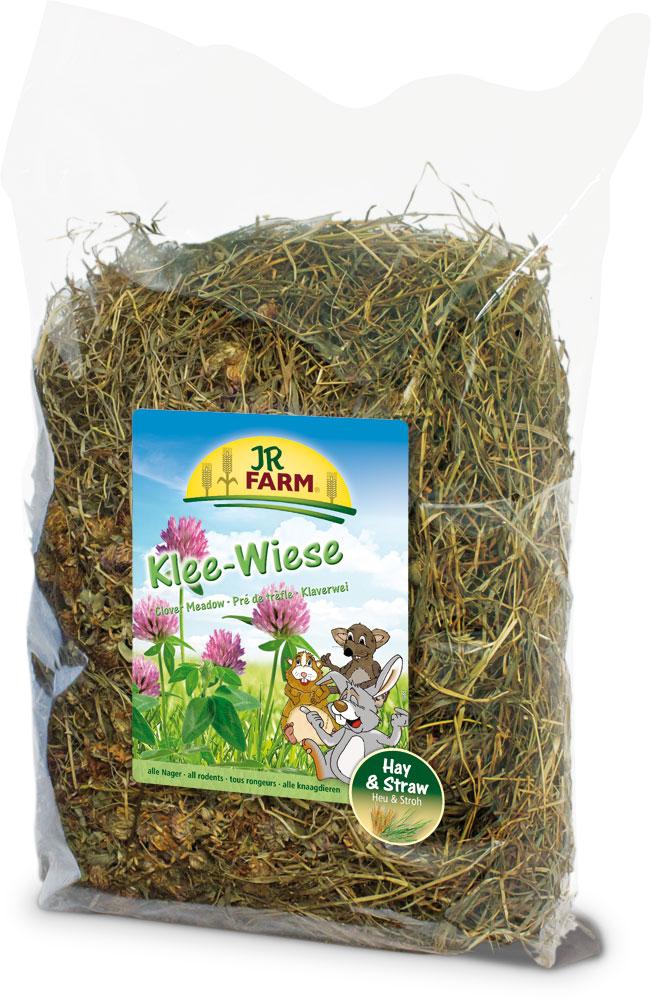 Сено для грызунов JR Farm, с клевером, 500 г куплю сено в тюках 2013
