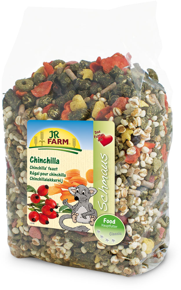 Корм для шиншилл JR Farm Classic, 1,2 кг камень для шиншилл jr farm жевательный 50 г