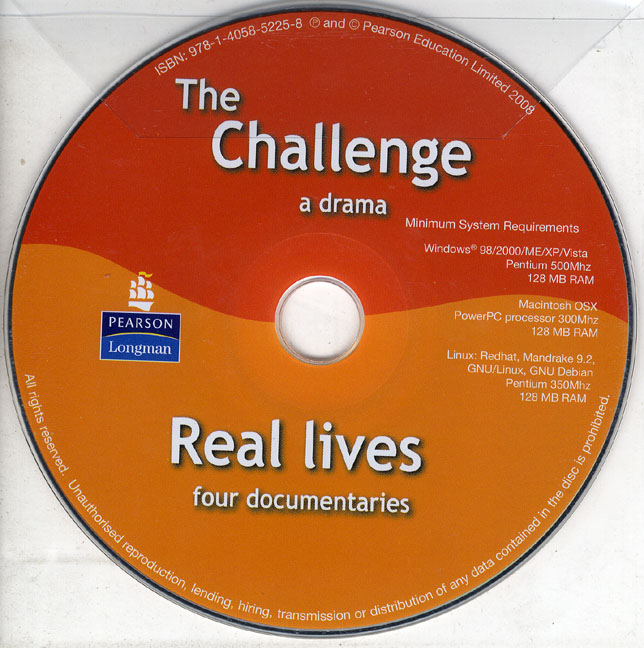 Challenge and Real Lives, The DVD PAL thorn s real lives real listening advanced student's book b2 c1 mp3