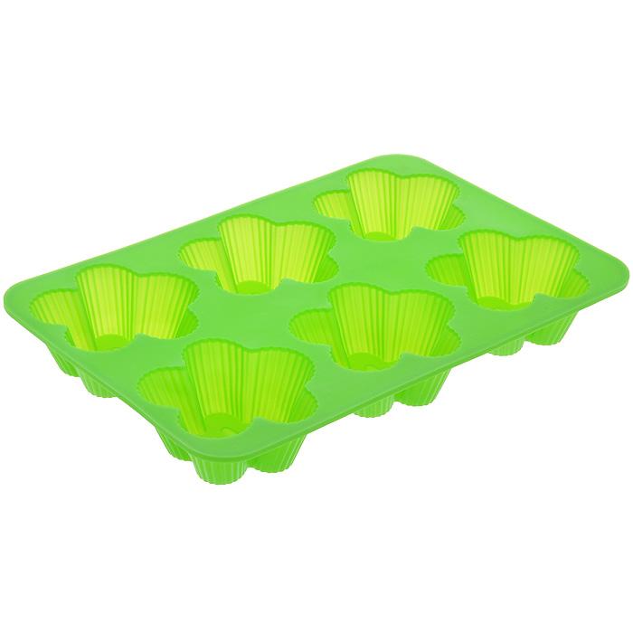 Форма для выпечки Marmiton Цветочки, 6 ячеек, цвет: салатовый16112Форма Marmiton Цветочки, изготовленная из высококачественного пищевого силикона, предназначена для приготовления выпечки, льда, конфет, желе, запеканок, шоколада, пудингов. На одном листе расположено 6 ячеек, выполненных в виде цветов.С такой формой вы всегда сможете порадовать своих близких оригинальной выпечкой.Силикон устойчив к фруктовым кислотам, к воздействию низких и высоких температур (выдерживает температуру от 240°C до - 40°C). Не взаимодействует с продуктами питания и не впитывает их запахи, как при нагревании, так и при заморозке. Обладает естественными антипригарными свойствами. Неприлипающая поверхность идеальна для духовки, морозильника, микроволновой печи и аэрогриля. Из формы легко и быстро можно достать выпечку. Силиконовая форма также практична при хранении за счет гибкости, ее можно смело мыть в посудомоечной машине.Общий размер формы: 25,5 см х 17,5 см х 3 см.Размер ячейки: 7,5 см х 7,5 см х 3 см.