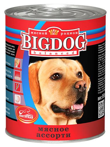 Консервы для собак Зоогурман Мясное ассорти, 850 г зоогурман консервы для собак зоогурман спецмяс деликатес желудочки куриные 250 г