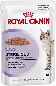 Консервы Royal Canin Sterilised, для стерилизованных кошек, мелкие кусочки в соусе, 85 г47187Консервы Royal Canin Sterilised - влажный корм для стерилизованных кошек, в виде мелких кусочков в соусе подходят для стерилизованных кошек старше 1 года. Здоровая мочевыделительная система.Новый влажный корм Sterilised способствует поддержанию здоровья мочевыделительной системы стерилизованных кошек. Идеальный вес стерилизованной кошки.Поддержание идеального веса кошки.Корм Sterilised помогает сохранить идеальный вес стерилизованной кошки благодаря точно подобранному содержанию энергии.Инстинктивное предпочтение стерилизованной кошки.Инстинктивное предпочтение.Оптимальное соотношение белков, жиров и углеводов способствует долговременному сохранению вкусовой привлекательности корма. Специальный макронутриентный профиль.Состав: мясо и мясные субпродукты, злаки, субпродукты растительного происхождения, минеральные вещества, экстракты белков растительного происхождения, углеводы.Добавки (в 1 кг): Витамин D3: 40 ME, Железо: 4,5 мг, Йод: 0,5 мг, Марганец: 1,5 мг, Цинк: 15 мг. Товар сертифицирован.Уважаемые клиенты!Обращаем ваше внимание на возможные изменения в дизайне упаковки. Качественные характеристики товара остаются неизменными. Поставка осуществляется в зависимости от наличия на складе.