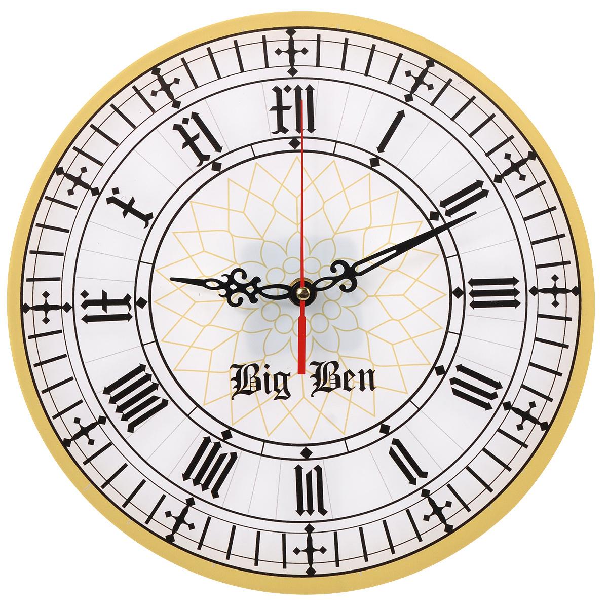Часы настенные Big Ben, стеклянные. 9601296012Оригинальные настенные часы Big Ben круглой формы выполнены из стекла и оформлены орнаментом. Часы имеют три стрелки - часовую, минутную и секундную. Циферблат часов не защищен. Необычное дизайнерское решение и качество исполнения придутся по вкусу каждому.Оформите совой дом таким интерьерным аксессуаром или преподнесите его в качестве презента друзьям, и они оценят ваш оригинальный вкус и неординарность подарка.
