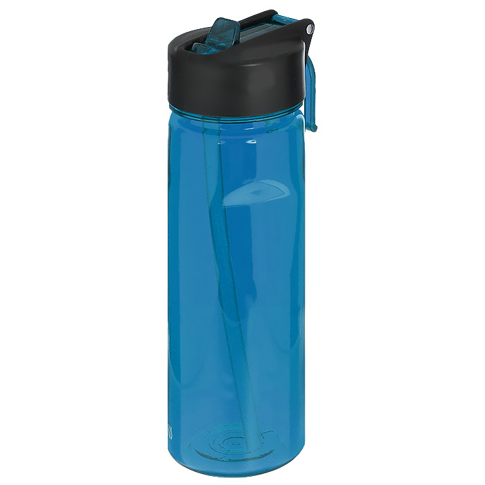 Фляжка Iris Barcelona, цвет: синий, 650 мл8202-PAФляжка Iris Barcelona изготовлена из прозрачного ударопрочного и долговечного материала - тритана, который не содержит бисфенол А. Изделие оснащено специальной насадкой-непроливайкой для удобного и легкого питья без откручивания крышки. Имеется кольцо для подвешивания к рюкзаку. Крышка герметичная, что предотвратит случайное проливание жидкости. Такая фляжка - очень удобна в использовании, ее можно взять с собой на отдых, на работу, на пробежку и т.д.