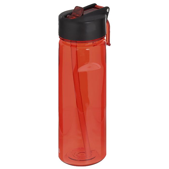 Фляжка Iris Barcelona, цвет: красный, 650 мл8202-PRФляжка Iris Barcelona изготовлена из прозрачного ударопрочного и долговечного материала - тритана, который не содержит бисфенол А. Изделие оснащено специальной насадкой-непроливайкой для удобного и легкого питья без откручивания крышки. Имеется кольцо для подвешивания к рюкзаку. Крышка герметичная, что предотвратит случайное проливание жидкости. Такая фляжка - очень удобна в использовании, ее можно взять с собой на отдых, на работу, на пробежку и т.д.