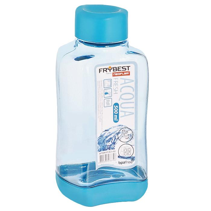 Бутылка Frybest Fresh, цвет: голубой, 500 мл. AC3-04 global elementary coursebook with eworkbook pack