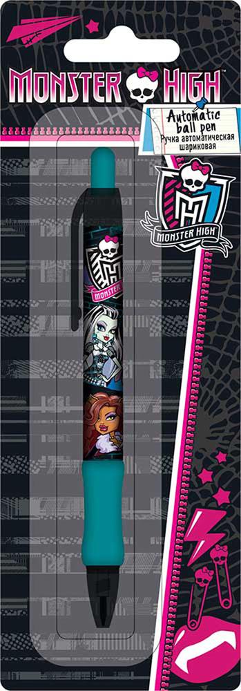 Ручка шариковая, цвет пасты синий, 1 шт. Печать на корпусе - термоперенос. Упаковка - блистер, 500 г/м2, 4+1, европодвес. Monster High