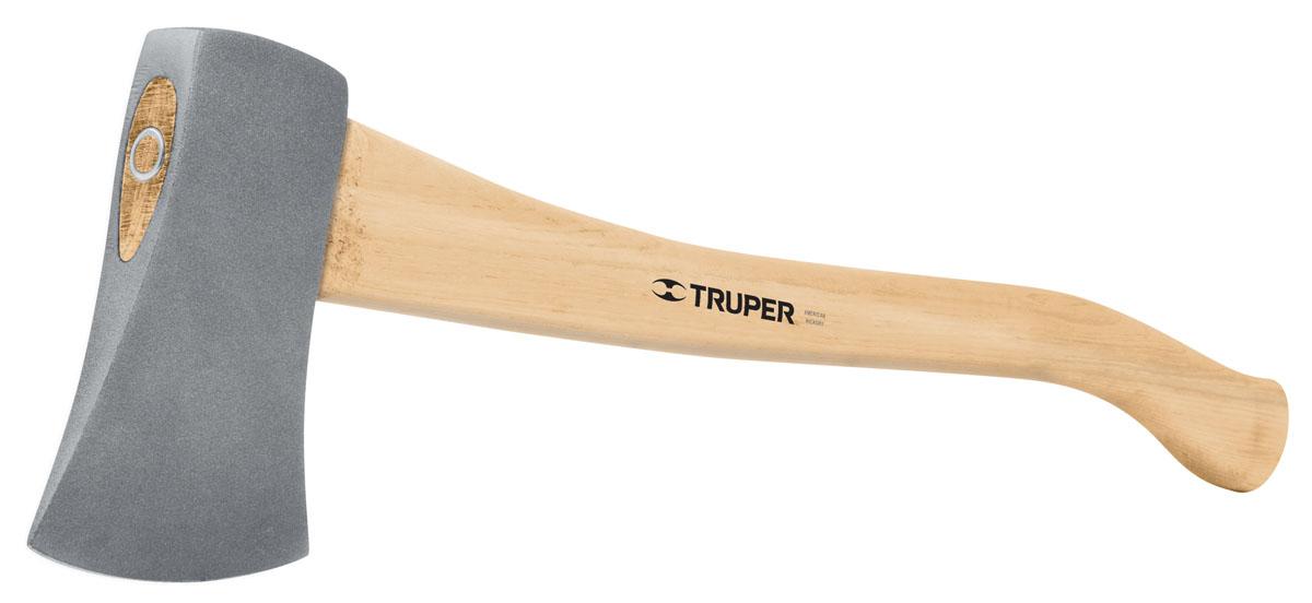Топор Truper, 1кг, 71 смHB-2-1/4MТопор Truper используется на садовом участке для валки деревьев и рубки дров. Боек изготовлен из кованной стали двойной термообработки. Длинная рукоятка из орехового дерева способствует более мощному удару.
