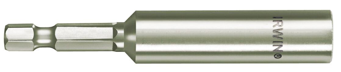 Держатель для бит Irwin, магнитный, 1/4, 50 мм10504377Магнитный держатель для бит Irwin предназначен для быстрой и надежной фиксации бит с шестигранным хвостовиком. Держатель позволяет быстро сменить вид оснастки.