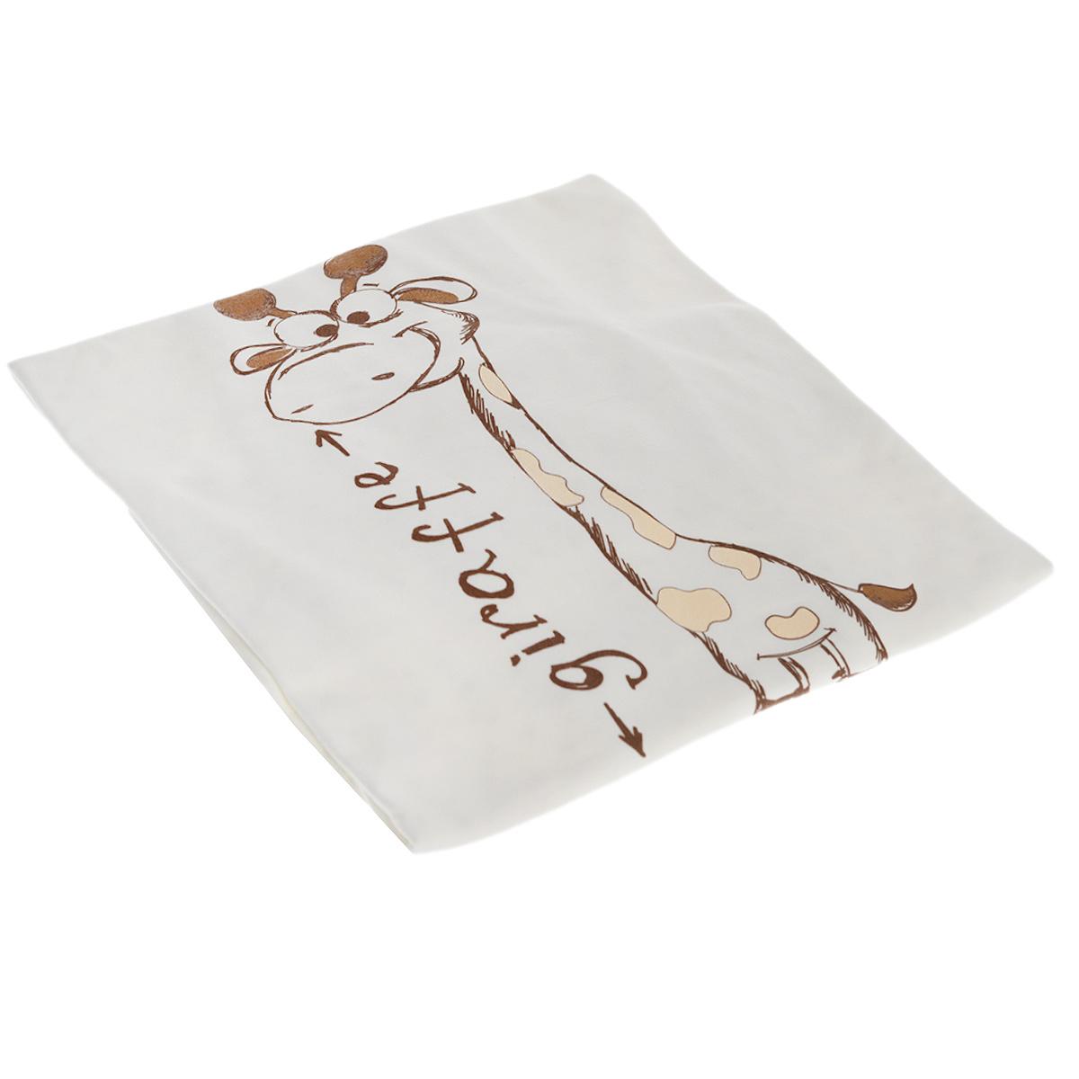 Плед детский Сонный гномик Жираф, цвет: светло-бежевый, 90 см х 90 см593/4Очаровательный детский плед Сонный гномик Жираф без утеплителя выполнен из 100% хлопка. Плед, оформленный крупным изображением забавного жирафа, идеально подойдет жарким летом.Благодаря размерам и практичному материалу плед очень удобен в использовании. Детский плед Сонный гномик Жираф - лучший выбор родителей, которые хотят подарить ребенку ощущение комфорта и надежности уже с первых дней жизни.