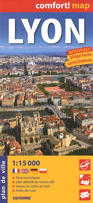 Lyon: Plan de ville dk eyewitness pocket map and guide paris