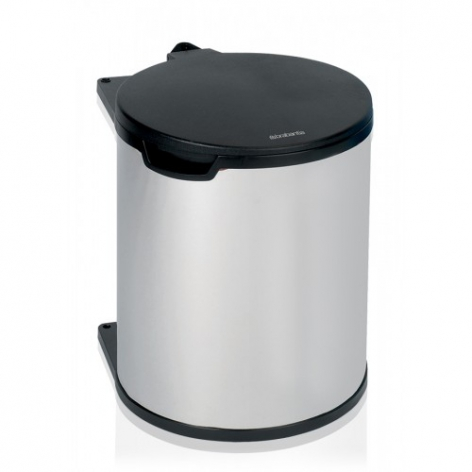 Бак мусорный Brabantia, встраиваемый, цвет: стальной полированный, 15 л. 418181418181Удобно устанавливается практически в любом кухонном шкафу.Не занимает много места – компактный дизайн (мин. установочные размеры: 302 мм x 369 мм x 475 мм).Подходит для дверей, открывающихся влево или вправо.Удобный сбор мусора – крышка открывается и закрывается автоматически при открывании/закрывании дверцы шкафа.Удобный доступ к мусорному ведру – бак выдвигается из шкафа при открывании дверцы и имеет широкое загрузочное отверстие.Удобная очистка – съемное внутреннее пластиковое ведро с ручками.Прочная конструкция – изготовлен из высококачественных коррозионностойких материалов.Всегда опрятный вид – идеально подходящие по размеру мешки для мусора PerfectFit (размер D).