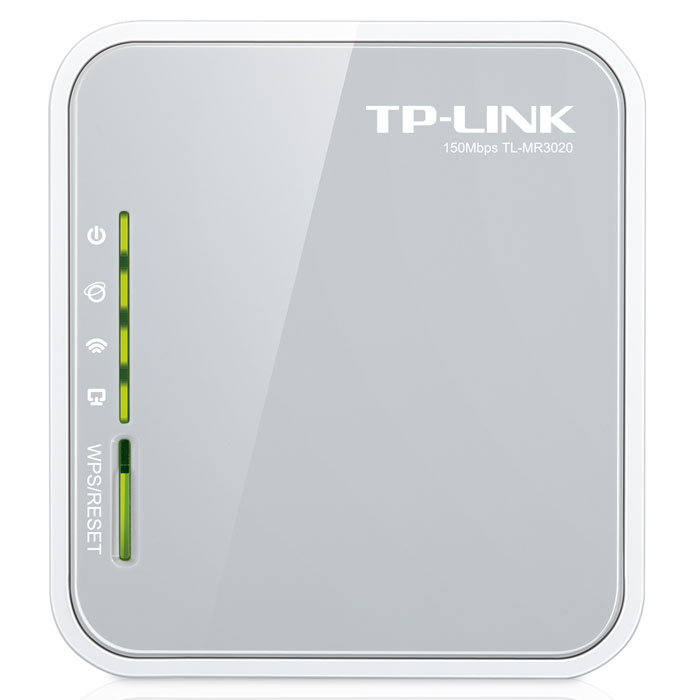 TP-Link TL-MR3020 беспроводной маршрутизаторTL-MR3020Портативный беспроводной 3G/4G-маршрутизатор TP-Link TL-MR3020. Питаемый от ноутбука или от сетевого адаптера, этот маршрутизатор позволит пользователям с легкостью совместно использовать мобильное подключение 3G/4G с семьей или друзьями в поезде, на кемпинге, в отеле, практически повсеместно в пределах зоны доступа 3G/4G.Портативный дизайн и порт Mini USB:Данный маршрутизатор отличается компактным размером, идеальным для использования в путешествиях, и портом Mini USB, с помощью которого для подачи питания можно подключать ноутбук или адаптер питания. Пока у вас есть ноутбук, TL-MR3020 может получать питание и создавать беспроводную сеть, к которой могут подключаться iPad, iTouch, телефоны на базе Android, Kindles и большинство других портативных устройств с поддержкой подключения по Wi-Fi.Высокая совместимость:Совместимость - это наиболее важный аспект, который следует принять во внимание при выборе 3G маршрутизатора. Чтобы гарантировать наилучшую совместимость между маршрутизаторами и модемами, которые вы хотели бы использовать вместе с маршрутизатором, компания TP-LINK проводит проверки на совместимость своих маршрутизаторов с поставщиками Интернет-услуг в тех регионах, где они продаются.Настройка безопасности нажатием одной кнопки:С помощью настройки безопасности нажатием одной кнопки, TL-MR3020 позволит пользователям быстро настроить защиту беспроводной сети. Просто нужно нажать кнопку WPS на маршрутизаторе и автоматически установится соединение, защищенное режимом шифрования WPA, который является более надежным по сравнению с режимом шифрования WEP. Это не только более быстрый и безопасный способ настройки, но и наиболее удобный, так как пользователям даже не придется запоминать пароль!IP QoS - контроль полосы пропускания:Полоса пропускания мобильного широкополосного подключения ограничена. С помощью функции IP QoS, TL-MR3020 позволяет оптимально использовать имеющуюся ширину канала и располагает функцией к
