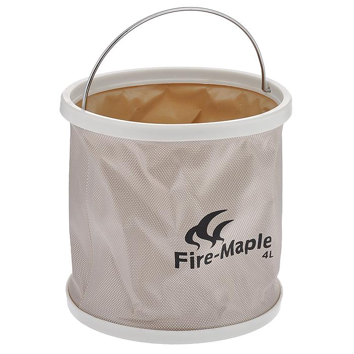 Ведро складное Fire-Maple, с чехлом, 4 лFMB-904Складное ведро Fire-Maple изготовлено из прочного водонепроницаемого материала оксфорд с герметичными швами. Оно не займет много места в сложенном состоянии и идеально подойдет не только в походе, но и при решении множества хозяйственных задач. Такое ведро идеально для кемпинга, охоты, рыбалки, отдыха на воде, садоводства, мытья машины и много другого. В комплект входит удобный чехол с петелькой на пластиковой застежке-молнии.