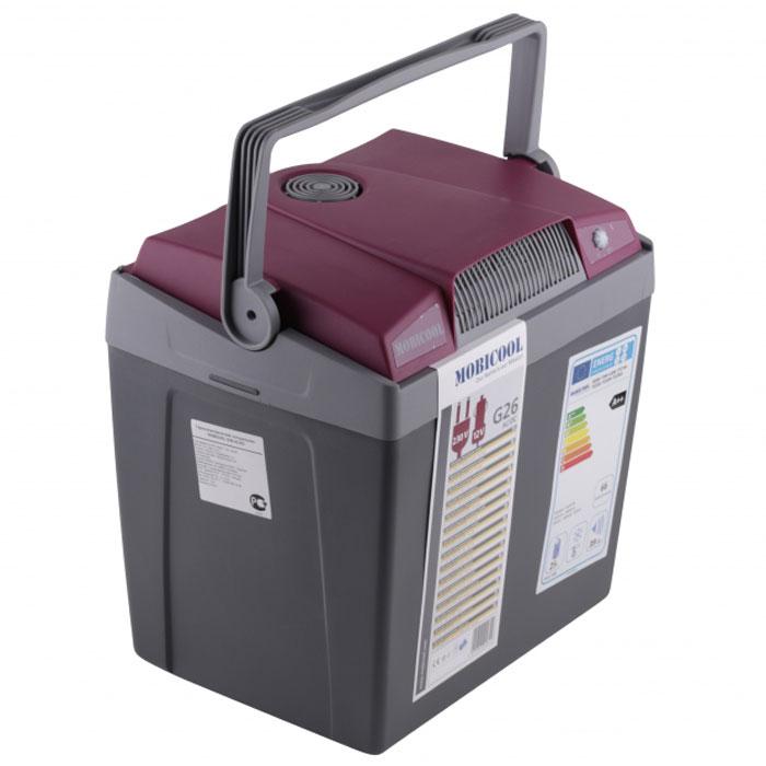 Термоэлектрический мобильный холодильник MOBICOOL G26 предназначен для сохранности продуктов питания и напитков в летний зной. Объем этого бытового прибора равен 25 литрам. Сумка холодильник охлаждает до 20°С ниже окружающей температуры. Высота сумки холодильника позволяет разместить бутылки объемом 2 литра.