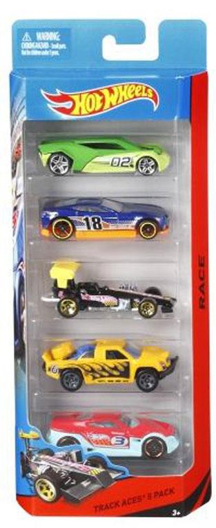 Hot Wheels Подарочный набор из пяти машинок в ассорт. из серии HW CITY