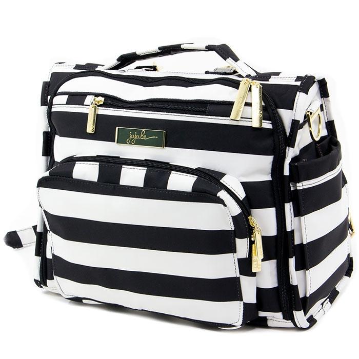 Ju-Ju-Be Сумка-рюкзак для мамы BFF The First Lady цвет черный белый сумка для мамы ju ju be hobobe pink pinwheels 12hb01a 8737